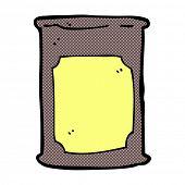 retro comic book style cartoon oil barrel