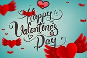 Composite image of valentines message with hearts