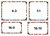 4 Colorful Pixel Bordrs In Darker Tone For Different Resolutions