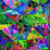 Abstract Colorful Geometric Illustration. Cute Picture  For Print And Web. Artistic Digital Geometri