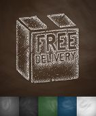 image of hands-free  - free delivery icon - JPG