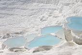 picture of natural phenomena  - The Pamukkale natural lakes in Hierapolis Turkey - JPG