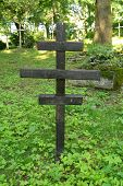 picture of graveyard  - forgotten anonymous cross on the old graveyard - JPG