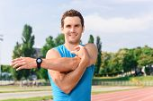 stock photo of stretching  - Stretch your body - JPG