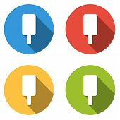 image of lolli  - Set of 4 isolated flat colorful buttons  - JPG