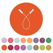 picture of roping  - The skipping rope icon - JPG