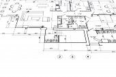 foto of architecture  - part of architectural project engineering and architecture drawings - JPG
