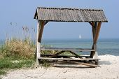 Picnic Place At The Beach.