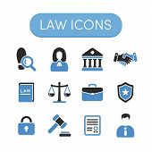 image of justice  - Set of grey and blue vector justice - JPG