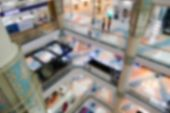 stock photo of department store  - blurry defocused image of department store or shopping mall - JPG