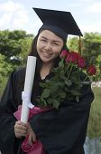 Graduate Student With Flowers