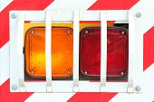 pic of tail  - tail light of the truck - JPG