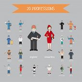 Постер, плакат: Profession of different people vector