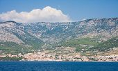 View To The Town Of Bol. The Island Of Brac. Croatia