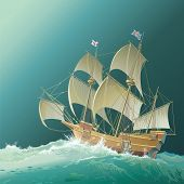 stock photo of sloop  - Galleon  - JPG