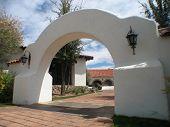 southwestern stucco arch