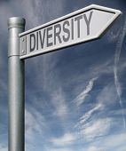 Diversity Road Sign With Clipping Path