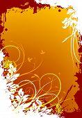 Abstract Grunge Floral Decorative Background Illustration