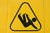 Sign warning of slippery floor