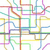 Seamless tile of a generic subway map.