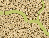 Editable vector illustration of a generic street map with no names