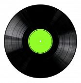 Vinyl 33rpm record with yellow label.  With clipping path.