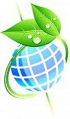 Single eco icon. Vector illustration.