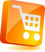 Shopping 3d icon. Vector illustration.