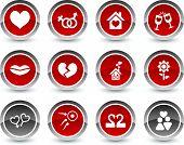 Love icon set. Vector illustration.