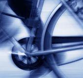 Cycling Blur Blue Tone