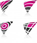 Abstract vector icons such logos..