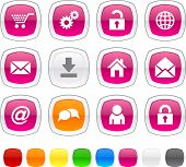 web glossy icons. Vector buttons.