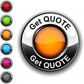 Get quote realistic button. Vector.