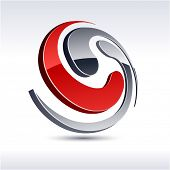 Abstract modern 3d spiral icon. Vector.