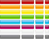 Long and short rectangular buttons. Vector.