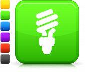 Icono de la bombilla en cuadrados internet botón seis opciones de color incluido.