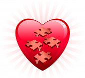 Incomplete Heart Puzzle Original Vector Illustration Incomplete Puzzle Ideal for Valentine's day Concept