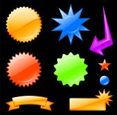 Original vector illustration: star burst designs