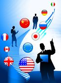 Tema de negocios con Internet bandera botones fondo Original Vector Illustration