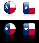Texas Flag Icon on Internet Button Original Vector Illustration AI8 Compatible