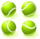Tenis pelota colección Original Vector Illustration