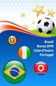 World Soccer Football Group G Original Vector Illustration