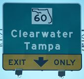 Exit Sign Clearwater Florida