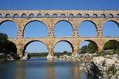 Roman Aqueduct At Pont Du Gard