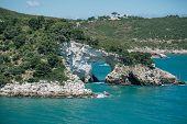 Sea Rocks Vieste Apulia Pulia, Italy, Vieste, Rock, Landscape Panorama Scenic Tourism poster