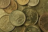 Textura de monedas de oro