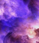 stock photo of day judgement  - Backlit surreal stormy clouds shading from dark purples and reds to light blues and yellows - JPG