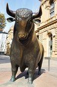 Bull Statue At The Frankfurt Stock Exchange