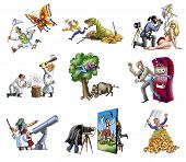 image of paleontologist  - People of the various profession - JPG
