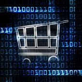 Online Shopping Cart And Binary Code